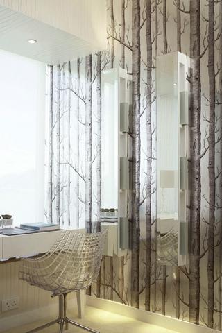 白色现代水晶住宅欣赏书房窗户