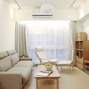 白色清爽日式风格欣赏客厅设计