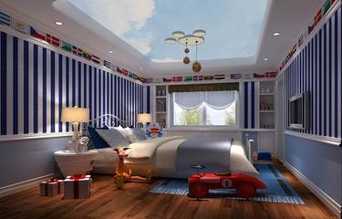 138平混搭住宅欣赏卧室