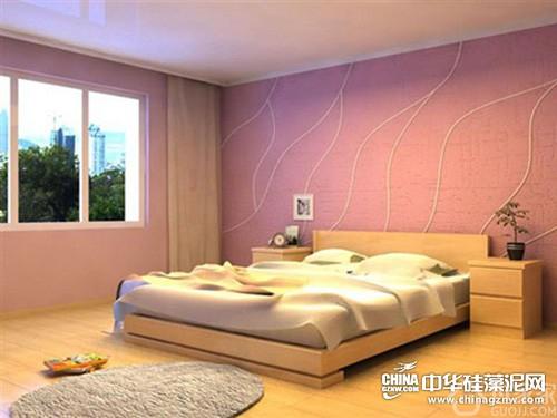 硅藻泥卧房装修后果图