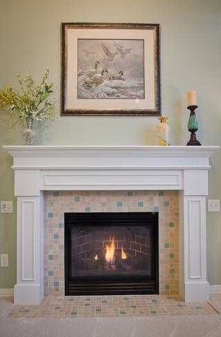 宜家别墅装饰设计欣赏壁炉