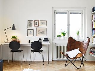 白色宜家设计住宅欣赏书房