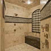 奢华风欧式装饰图主卧淋浴间