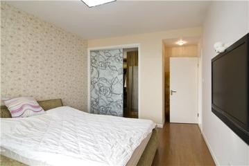 116平现代三室两厅欣赏卧室效果