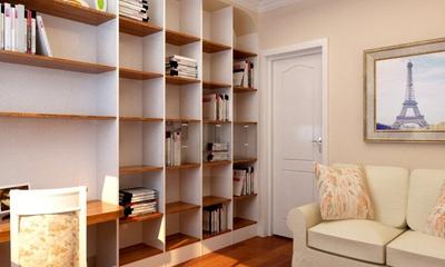 77平田园两居住宅欣赏书房书架