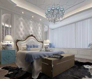 108平欧式风格住宅欣赏卧室
