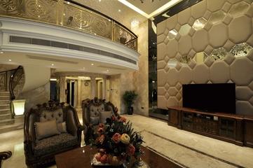 欧式风格复式楼客厅设计