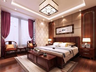 奢华中式风住宅欣赏卧室吊顶设计