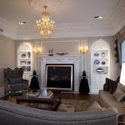 欧式风格设计套图客厅背景墙设计