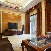 欧式风格住宅客厅背景墙