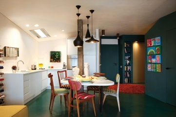 绿色环保简约住宅欣赏餐厅全景